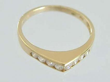 Zarter Ring Gold 585 mit vielen Zirkonias - Goldring - Damenring - Designerring