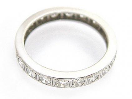 Memoryring Ring Weißgold 585 mit Brillanten ca. 0, 80 ct Weißgoldring 14kt Gold