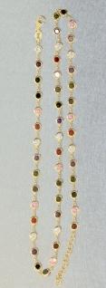 Silberkette 925 vergoldet Zirkonias multicolor Kette Silber Gold bunt Karabiner - Vorschau 3