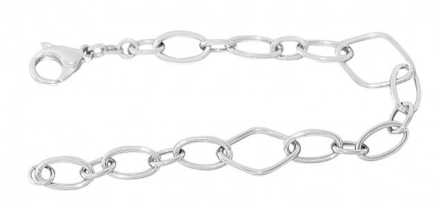 20 cm Trendy Armband Silber 925 Armkette Silberarmband rhodiniert Gliederarmband