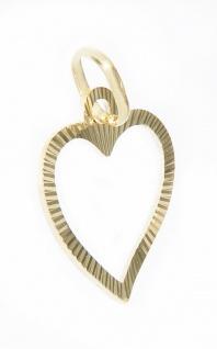 Herz Anhänger Gold 585 Weißgold oder Gelbgold geschliffen Liebeserklärung - Vorschau 2