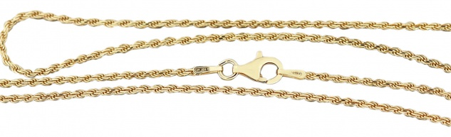 Walliskette Silber 925 vergoldet massiv Karabiner Silberkette Gold 42 bis 80 cm