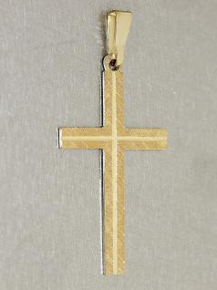 Anhänger Kreuz Gold Goldkreuz 585 Kreuz gemustert Goldanhänger 14 kt