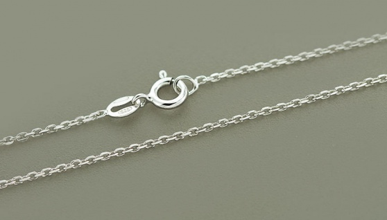 Silberkette 925 massiv Halskette Gliederkette Kette rhodiniert 40 cm lange Kette