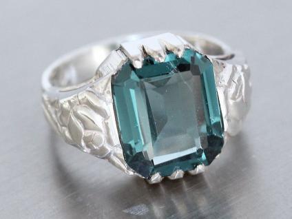 Ring in Silber 800 mit 1 Schmuckstein 12x10 mm turmalin farben Silberring