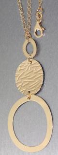 Kette u. langer Anhänger Silber 925 Gold pl Silberkette Silberanhänger vergoldet