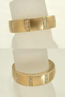 Massiver Bandring - Ring Gold 585 mit 12 Brillanten - Goldring - Brillantring
