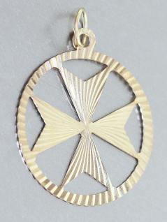 Anhänger Kreis mit Stern Gold 375 Goldanhänger Kettenanhänger