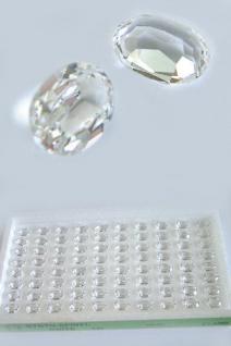 Spinell 80 Stk. facettiert 8 x 6 mm oval weiß Spinelle