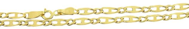 Hochglänzende Goldkette 585 Panzerkette 50 55 60 cm Anker Kette Gold Halskette