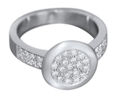 Eleganter Brillantring 0, 50 ct. - Ring Weißgold 585 massiver Weißgoldring Gold