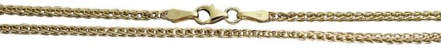 45 / 50 cm starke Zopfkette 333 Goldkette Halskette Kette Gold Karabiner Collier