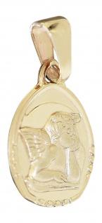 Schutzengel Anhänger Gold 333 / 8 Karat Schutzengerl Gelbgoldanhänger