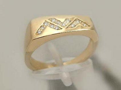 Brillantring massiver Goldring 585 mit Brillant Ring Gold 14 kt Super Design