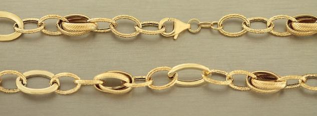 Collier Gold 585 große Glieder 46 cm Goldkette Kette Gelbgold Halskette 10 gr