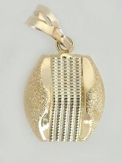 Große Optik - moderner Anhänger Gold 585 - diamantiert - Goldanhänger 14 kt