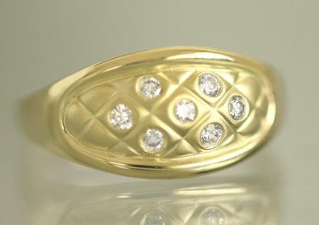 Top Design! Breiter Goldring 750 mit Zirkonia - Ring Gold 18 kt - Damenring