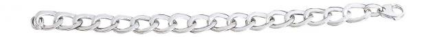 20 cm Panzerarmband Silber 925 rhodiniert Armband Armkette breites Silberarmband - Vorschau 3