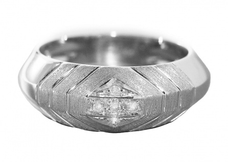 Designerring Weißgold 585 mit Brillanten Ring Weißgold Brillantring Gold 14 kt