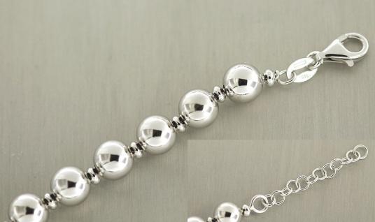 Kugelarmband Silber 925 - Silberarmband - Armband Silber Perlenarmband Armkette