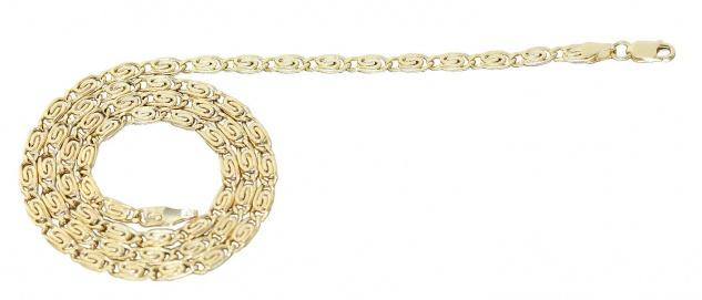 Breite Irrgangkette Gold 585 Gelbgoldkette 45 cm Halskette Goldkette Collier
