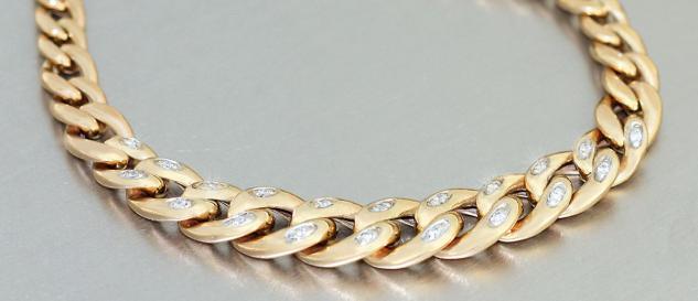 Goldkette 585 figaro