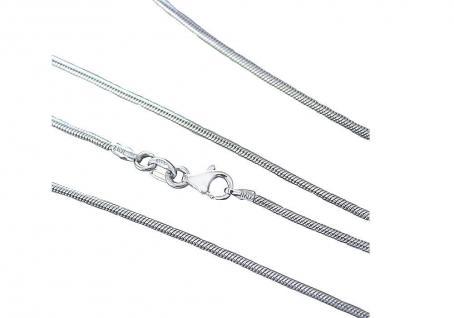 60 cm massive Schlangenkette Silber 925er Halskette starke Silberkette Karabiner