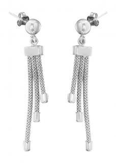 Elegante Ohrhänger Silber 925 rhodiniert Ohrstecker Ohrringe Ohrschmuck