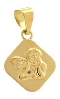 Anhänger kleiner Schutzengel Gold 585 - Goldanhänger zur Taufe od Kommunion 14kt
