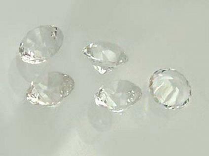 5 Bergkristalle im Brillantschliff 8 mm Durchmesser