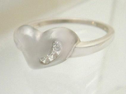 Silberring 925 Herz mit Zirkonias Ring echt Silber Damenring zum Verlieben