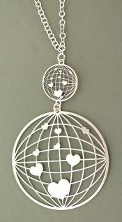 Silberkette und Anhänger Silber 925 Herzen Kette Collier Silber Herzen