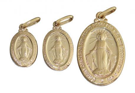 Anhänger Hl. Maria Gold 585 / 14 Kt. wundertätige Madonna Immaculata Milagrosa