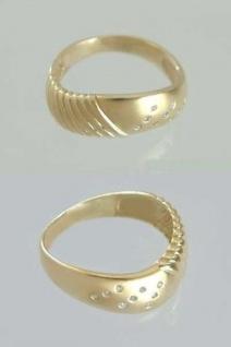 Diamantring Ring Gold 585 - mit 9 Diamanten - Goldring - Damenring Designerring