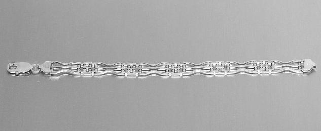 18 cm massives Silberarmband 925 rhodiniert moderne Armkette Damen Armband 11 gr