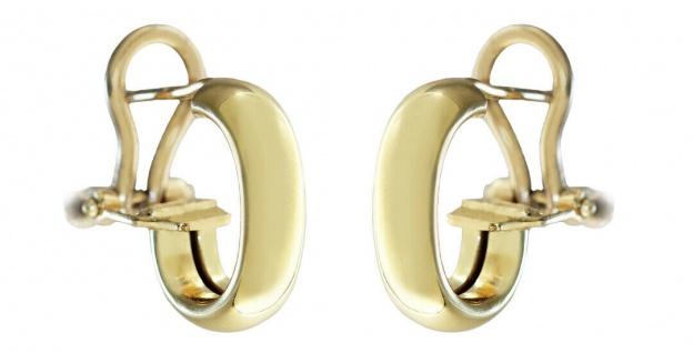 Ohrclips Gelbgold 750 Halbcreolen 4, 2 gr. Ohrstecker Gold 18 Kt