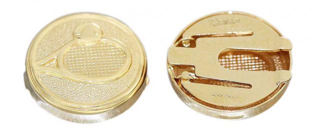 Manschettenknöpfe Gold 750 / 18 Karat Knopfabdeckungen Tennis 4, 9 gr.Herren