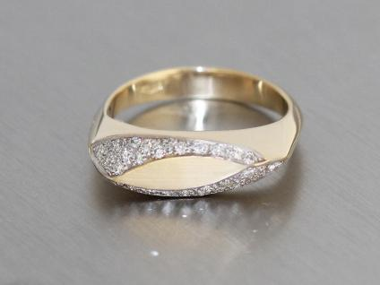Brillantring 0, 36 ct. Ring Gold 585 Brillanten Goldring massiv Damenring RW 59 - Vorschau 2
