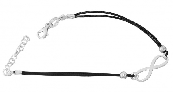 Armband Silber 925 Infinity Freundschaftsarmband Karabiner Sterlingsilber