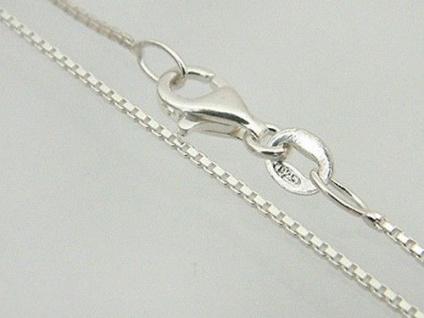 42 cm feine Silberkette Sterlingsilber 925 m. Karabiner - Venezianerkette Silber
