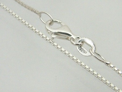 Feine Silberkette Sterlingsilber 925 Karabiner Venezianerkette Silber 42 cm