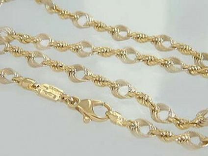 Massive Goldkette 750 - Collier zweifärbig - 17, 4 gr. Kette Gold 18 Kt Halskette