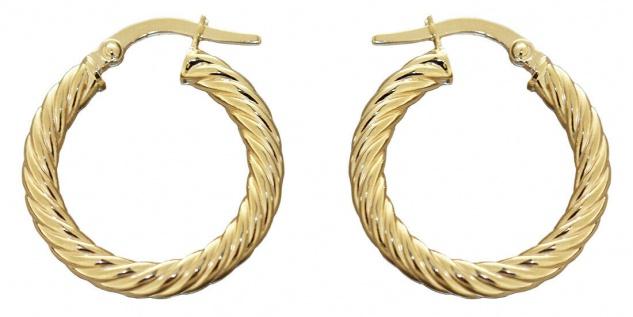 Creolen Gold 585 Ohrringe gedreht 14 Karat Damen Ohrschmuck 2, 0 cm