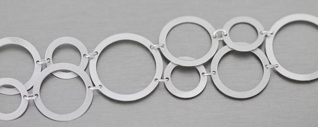 Topmodisches Armband Silber 925 rhodiniert Armband Silber Armkette Designerstück