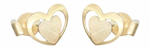 Kinder Ohrstecker Gold 585 Herzen Ohrstecker Ohrringe Kinder Mädchen