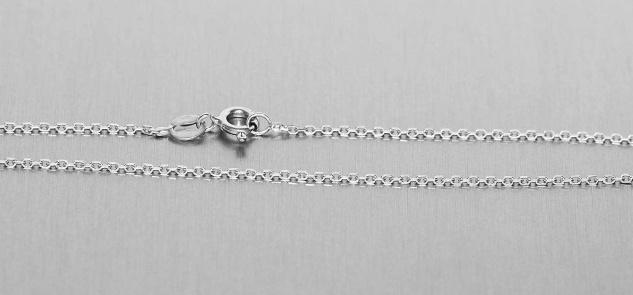 60 cm lange massive Silberkette 925 - Halskette Gliederkette feine Kette Silber
