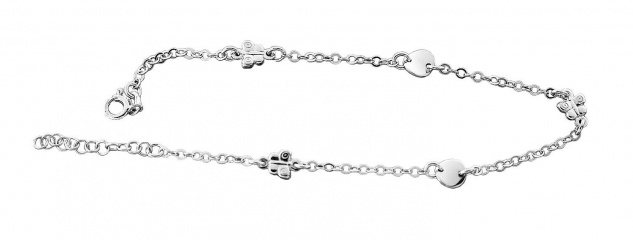 Fußkette Silber 925 Schmetterling Fußkettchen Silberkette massiv Damen