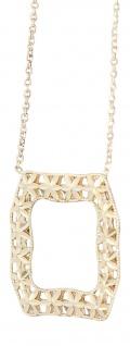 Collier mit Anhänger Gold 750 / 18 Karat Goldkette - massive Halskette Gelbgold