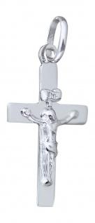 Kreuz Weißgold 585 Anhänger mit Korpus kleines Goldkreuz Kreuzanhänger 14 Karat