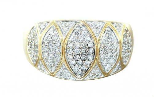 Ring Gold 585 Diamanten 0, 60 ct. Damen Diamantring Luxus Goldring RW 59